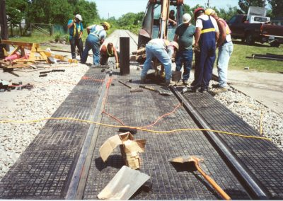 Rail-Way rubber crossing photo 2